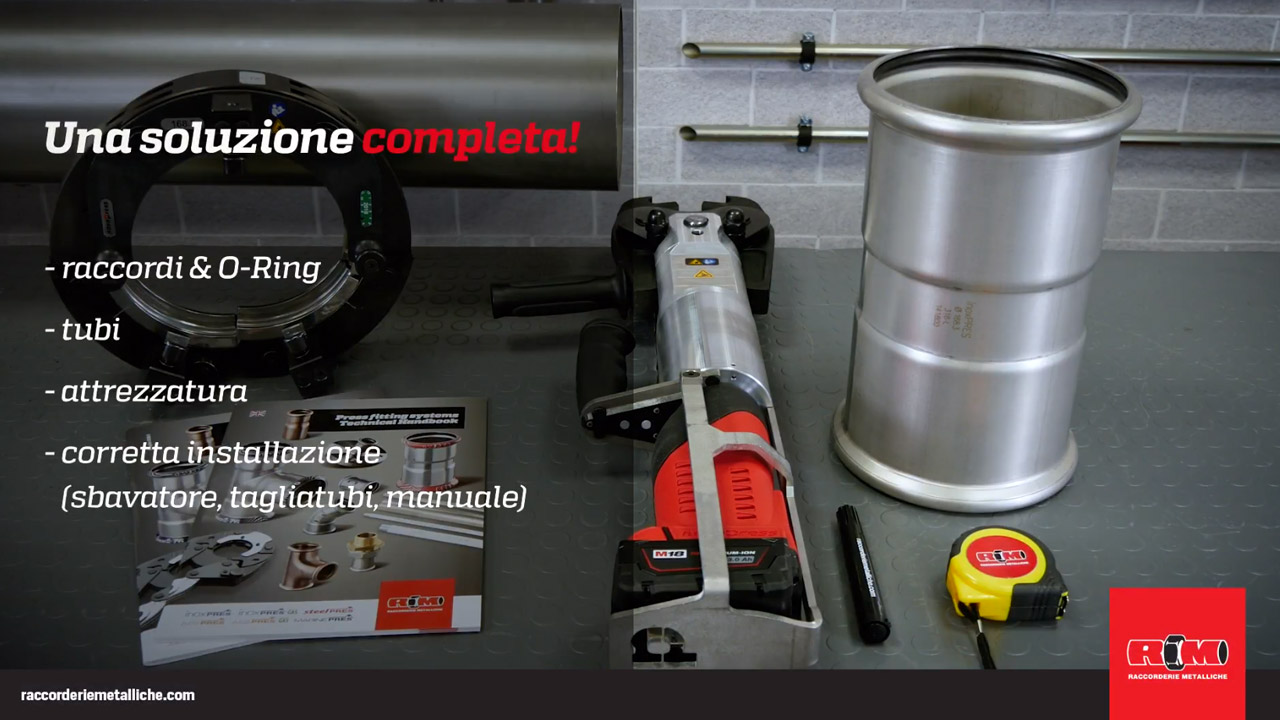 Raccorderie Metalliche<br>Tutorial for installers