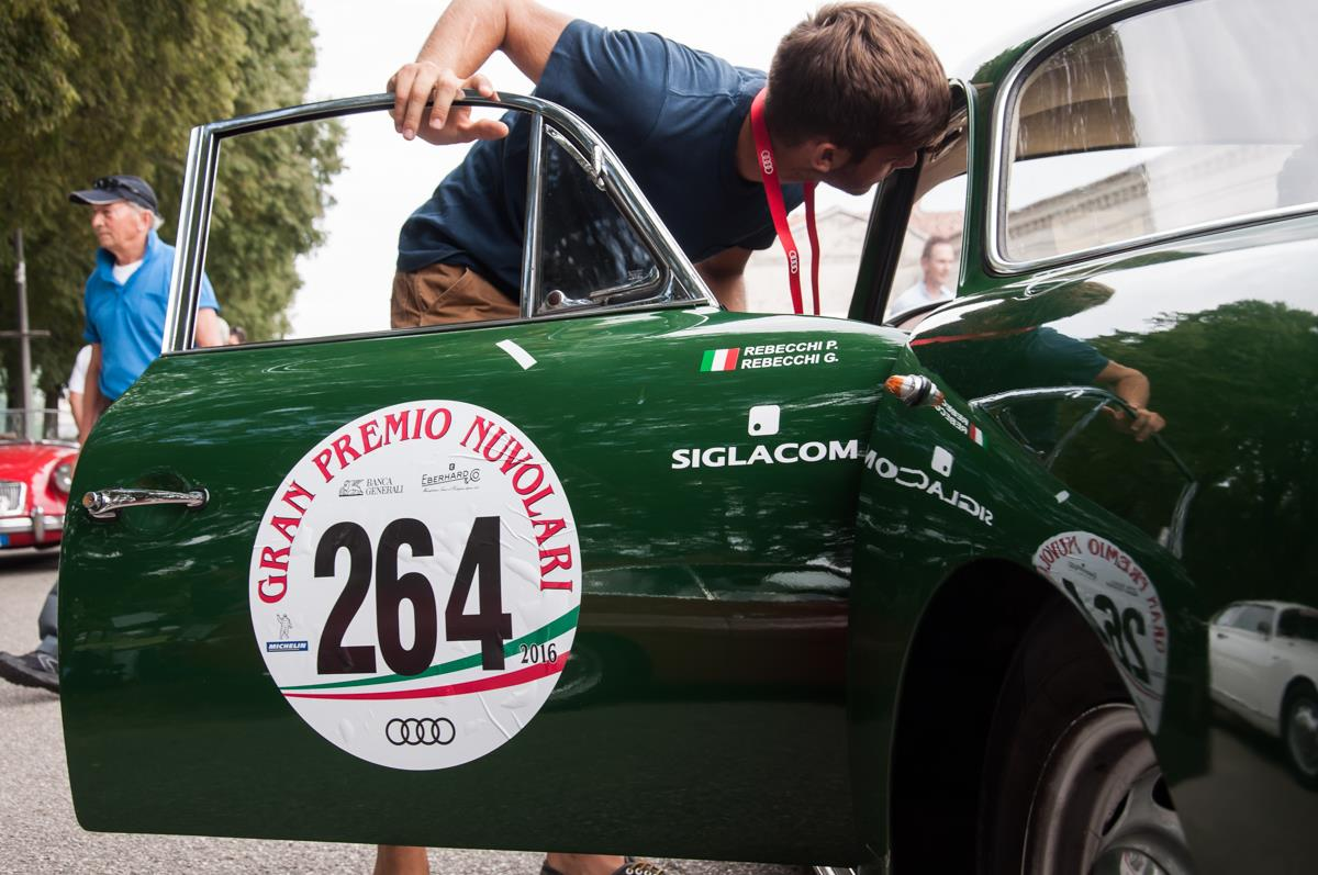 Car inspection at Grand Prix Nuvolari