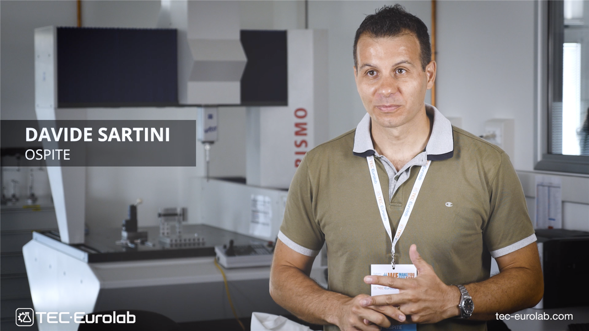 TEC Eurolab <br>Interview Davide Sartini - Open Day