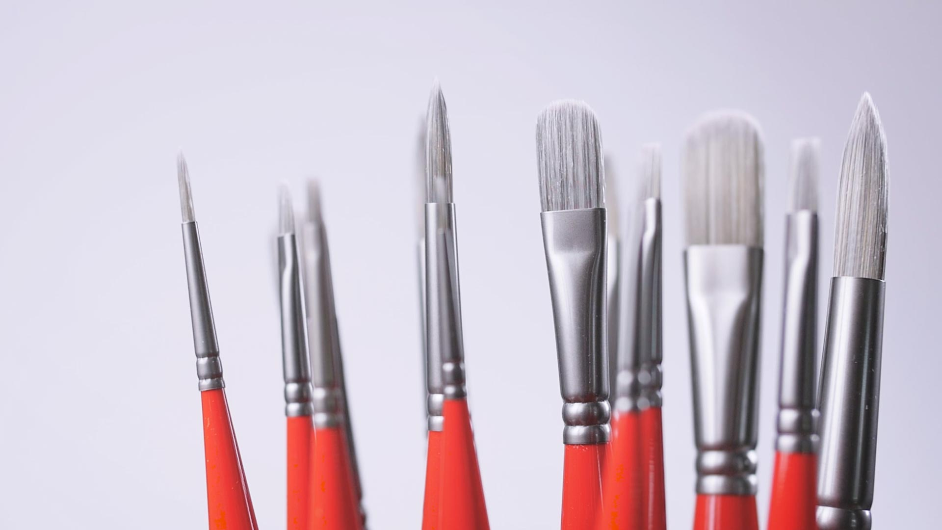 Silver UNICO Paintbrush Series by Borciani Bonazzi